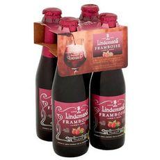 LINDEMANS Bière belge artisanale aromatisée à la framboise 2,5% bouteilles 4x25cl