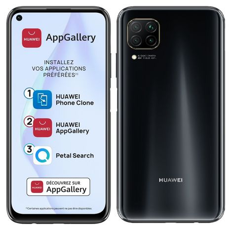 HUAWEI Smartphone P40 lite 128 Go 6.4 pouces Noir 4G Double port NanoSim