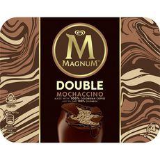 Magnum Bâtonnet glacé double mochaccino café enrobé de chocolat x4 -292g