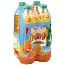 AUCHAN Jus d'orange à base de concentré 4x2l