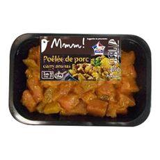 AUCHAN MMM! Mmm ! cubes de porc marinés au curry 400g
