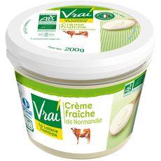VRAI Crème fraîche épaisse entière 30% bio 20cl