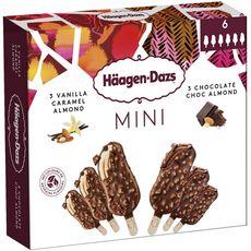Häagen-Dazs HAAGEN DAZS mini bâtonnets vanille caramel amande et chocolat