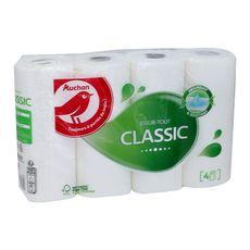 AUCHAN Papier essuie-tout classic blanc 4 rouleaux