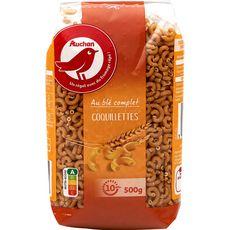 AUCHAN Auchan Coquillettes au blé complet 500g 500g