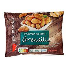 AUCHAN Pommes de terre grenaille à l'huile d'olive 450g