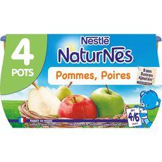 Nestlé Naturnes petit pot dessert pomme poire dès 4 mois 4x130g