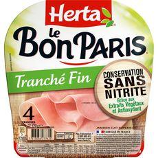 Herta Le Bon Paris Jambon blanc sans nitrite sans couenne 4 tranches 120g