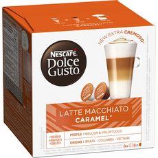 NESCAFE Latte macchiato caramel capsules compatible Dolce Gusto 8+8 capsules 145,6g