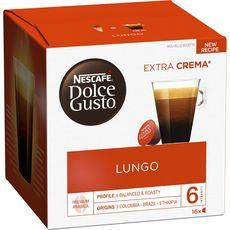 Nescafé Lungo capsules compatible Dolce Gusto x16 -104g