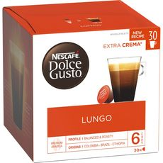 NESCAFE Lungo capsules compatible Dolce Gusto 30 capsules 195g