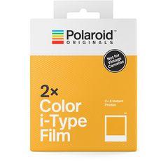 POLAROID Pack de  2 films pour appareil photo instantané iType Colour