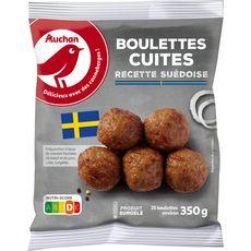 AUCHAN Boulettes de viande cuisinées façon Suèdois 25 pièces 350g