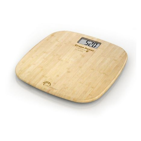 LITTLE BALANCE Pèse personne sans pile à chargement USB 8228 - Bambou