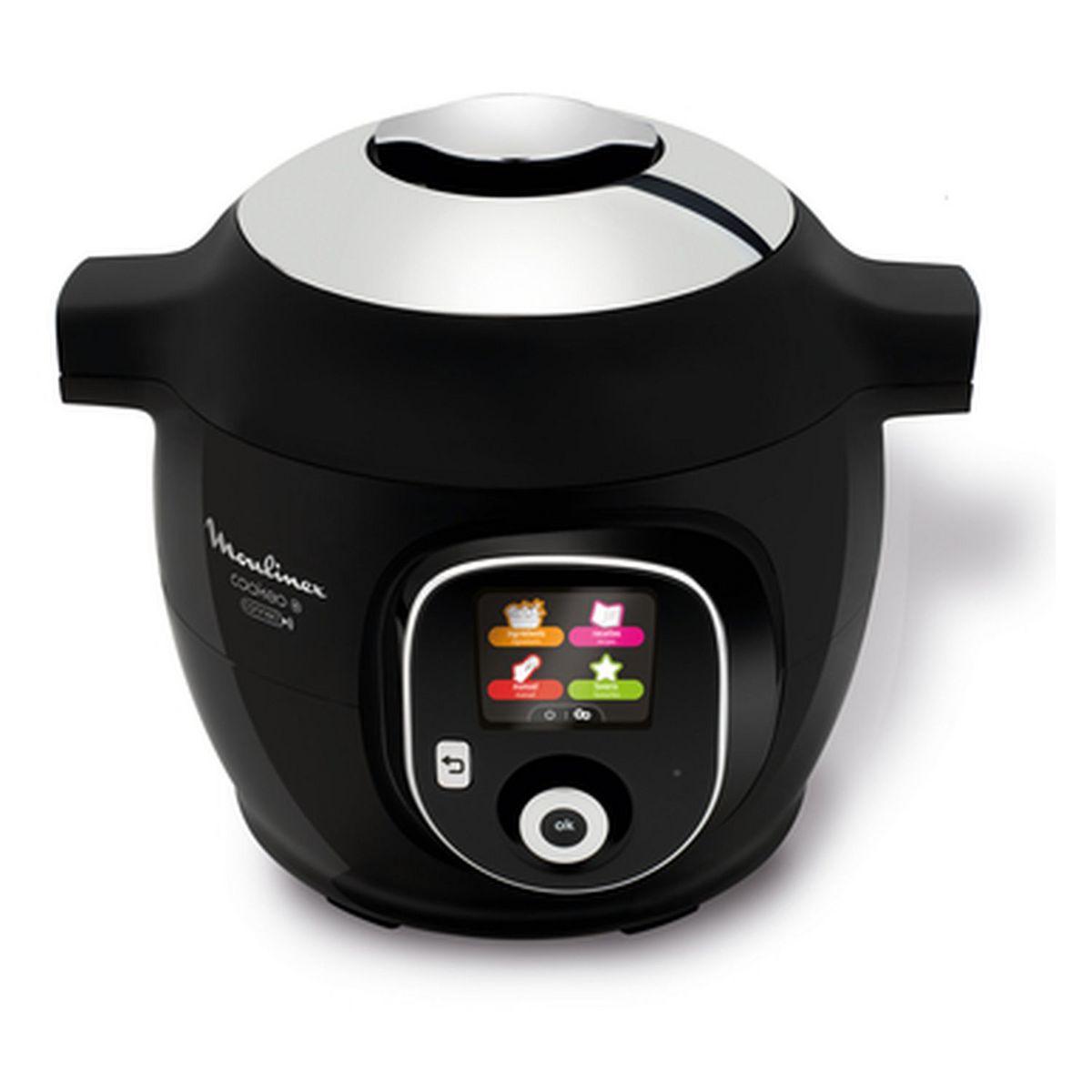 Multicuiseur intelligent COOKEO Connect Noir 200 recettes - CE857800