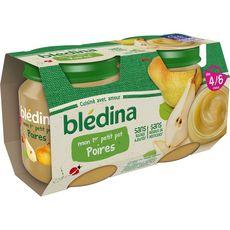 Blédina Mon 1er petit pot dessert poires dès 4 mois 2x130g