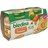 Blédina Blédina Mon 1er petit pot dessert aux pommes dès 4 mois 2x130g