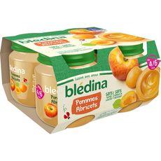 Blédina Petit pot dessert pommes et abricots dès 4 mois 4x130g