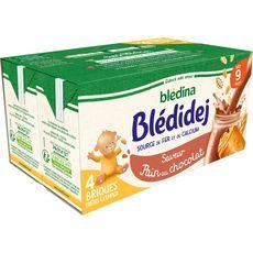 Blédina BLEDINA Blédidej céréales lactées pain au chocolat dès 9 mois