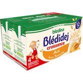 Blédina Blédina Blédidej céréales lactées saveur biscuité miel dès 12 mois 4x250ml