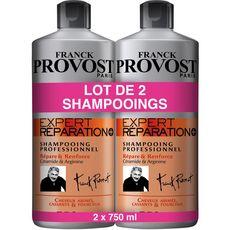 FRANCK PROVOST Franck Provost Expert Réparation shampooing cheveux abîmés cassants 2x750ml 2x750ml