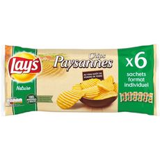 LAY'S Lay's chips paysanne au sel 6x27,5g