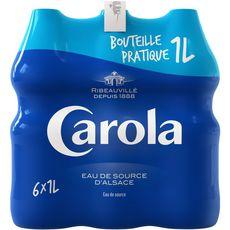 Carola Eau de source d'alsace bleue plate 6x1l