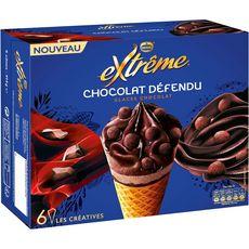 Extrême Chocolat Défendu Cône glacé au chocolat et truffes x6- 414g