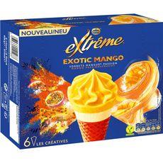 EXTREME Cône glacé exotic sorbet mangue passion 6 pièces 429g