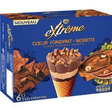 Extrême Cône glacé coeur fondant chocolat noisettes x6-426g