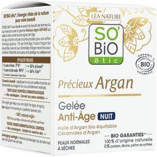So'Bio étic Gelée anti-âge de nuit tous types de peaux 40ml