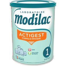 Modilac Actigest 1 lait 1er âge épaissi en poudre dès la naissance 800g
