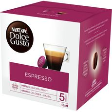 DOLCE GUSTO Capsules de café espresso 16 capsules 96g