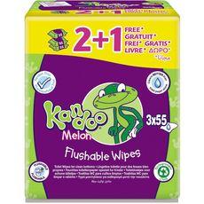 Kandoo lingettes toilette melon 2 paquets + 1 offert