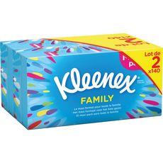 Kleenex Boîte de mouchoirs family 2x140