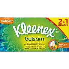 Kleenex mouchoirs balsam 2x72 +1offerte
