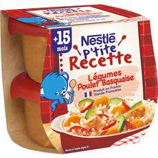 Nestlé NESTLE P'tite Recette Bol légumes et poulet basquaise dès 15 mois