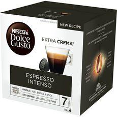 DOLCE GUSTO Capsules de café espresso intenso 16 capsules 112g