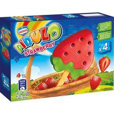PIRULO Pirulo Bâtonnet glacé strawberry x4 -264g 4 pièces 264g