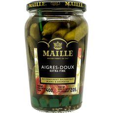 MAILLE Maille Cornichons aigres-doux extra fins au balsamique blanc &aromates 205g 205g