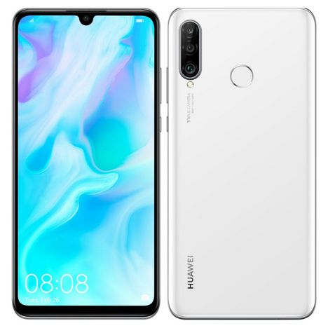 HUAWEI Smartphone P30 LITE XL 256 Go 6.15 pouces Blanc Crystal 4G+ Double NanoSim