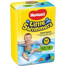 Huggies Little swimmers couches de bain taille 3-4 (7-15kg) x12.