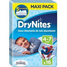Huggies DryNites slips de nuit garçon dès 4 ans (17-30kg) x16