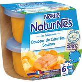 Nestlé Nestlé Naturnes bol douceur de carottes et saumon dès 6 mois 2x200g