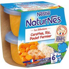 Nestlé NESTLE Naturnes bol carottes riz et poulet fermier dès 6 mois