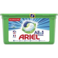 ARIEL Lessive en capsules tout en 1 alpine 31 lavages 31 capsules