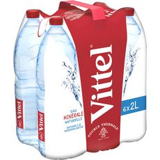 VITTEL Vittel Eau minérale naturelle plate 6x2l 6x2l