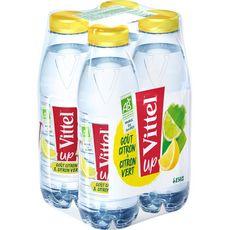 Vittel up Eau aromatisée citron citron vert bio bouteilles 4x50cl