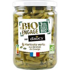 D'AUCY Le bio engagé haricots verts aux graines de courge, en bocal 290g