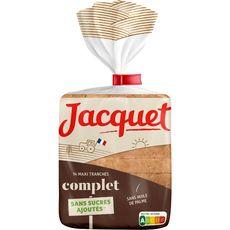 JACQUET Pain de mie complet sans sucres ajoutés 14 tranches 550g
